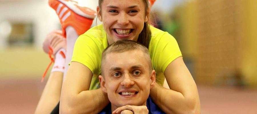 Monika Jackiewicz i jej partner Artur. Dziś tworzą piękną biegową parę