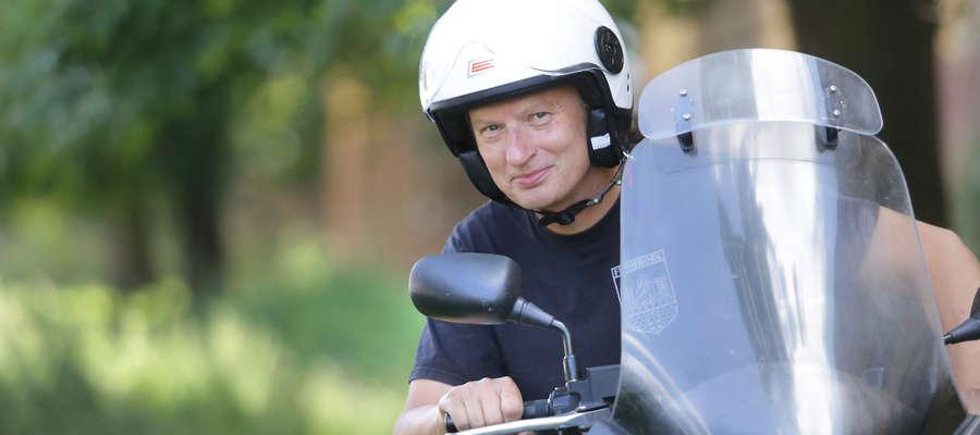 Marian Jurak na motocyklu zjeździł całą Polskę.
