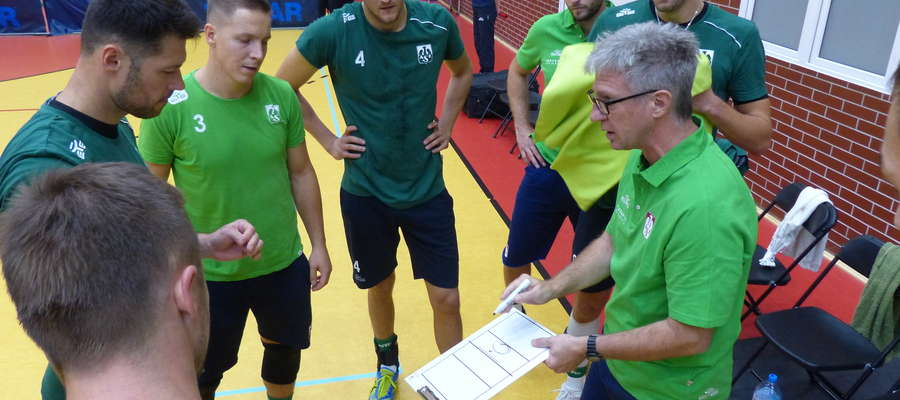 Trener Roberto Santilli miał do dyspozycji w Iławie prawie wszystkich swoich zawodników