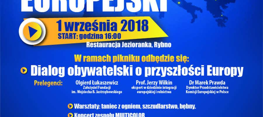 Stowarzyszenie Przyjaciół Gminy Rybno zaprasza na Piknik Europejski