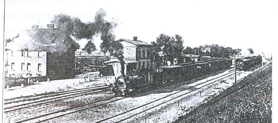 Stacja kolejowa w Starym Dolnie ok. 1914 r