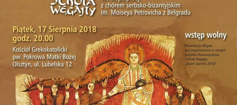 Niezwykłe Oficjum po raz pierwszy w Olsztynie