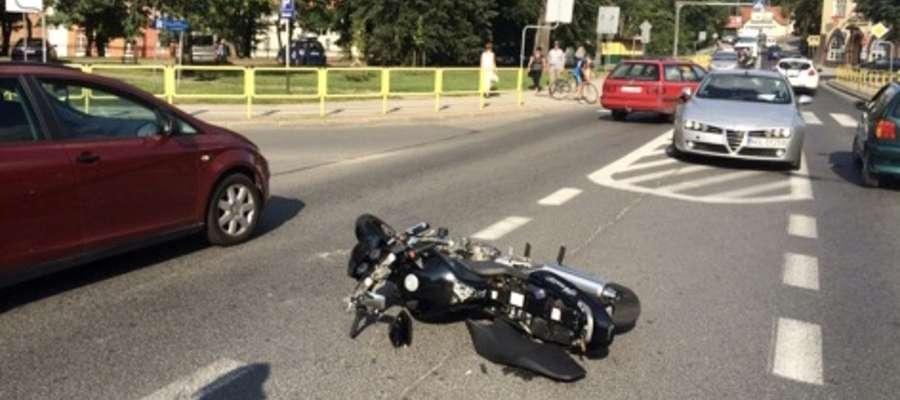 Wypadek przy Oranżerii w Lidzbarku Warm.