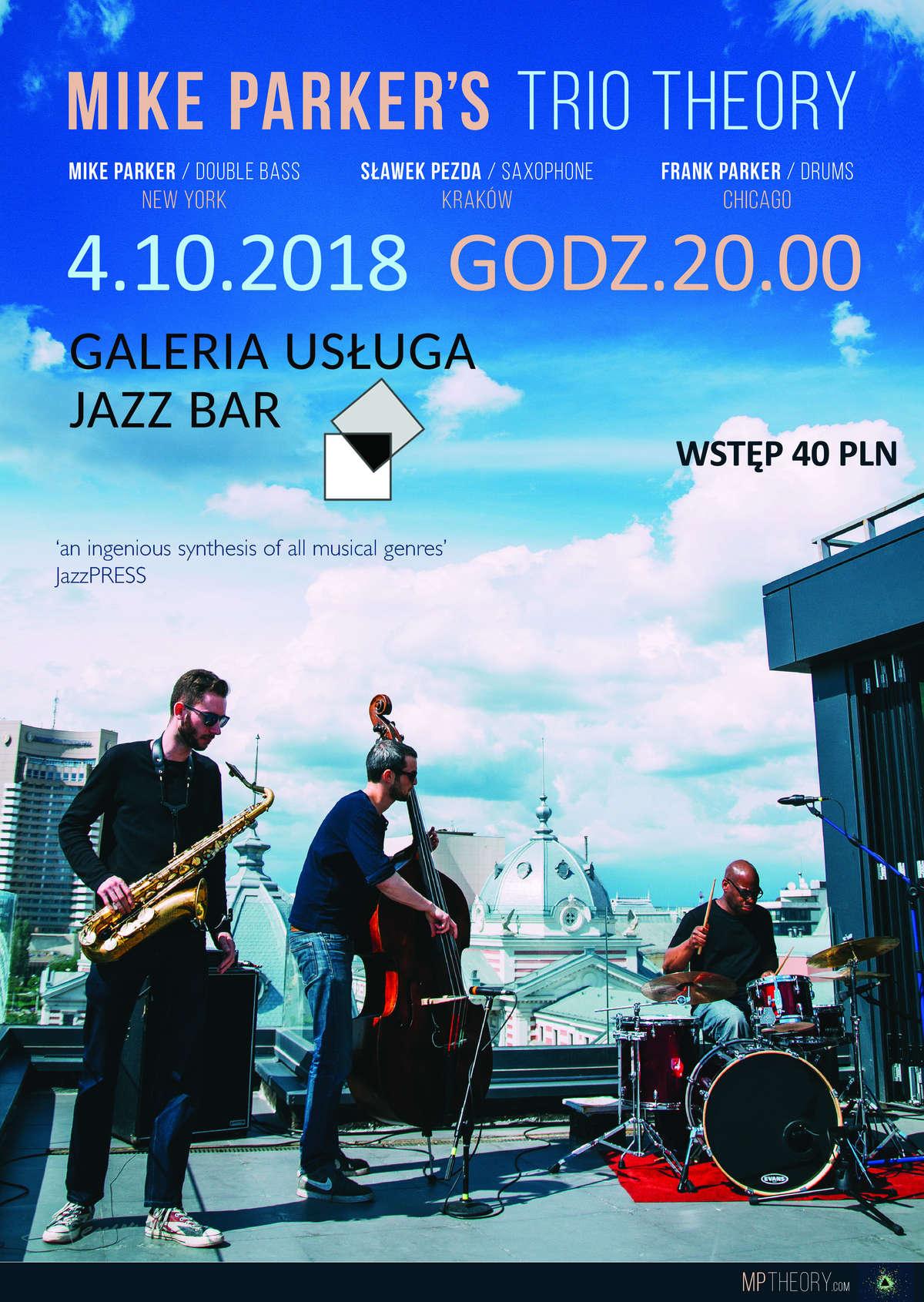 MIKE PARKER'S TRIO THEORY - koncert nowojorskiego trio jazzowego - full image