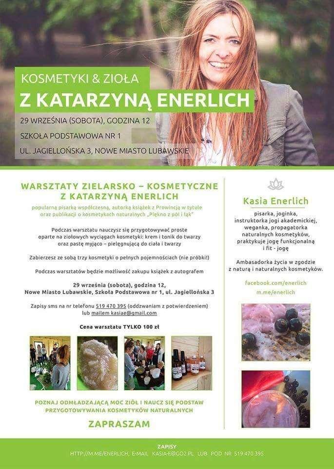 Gościem spotkania będzie Katarzyna Enerlich