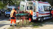 Potrącenie rowerzysty na Warszawskiej. 62-latek odwieziony do szpitala [zdjęcia]