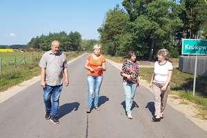 Droga Krukowo - Ostrówek w remoncie