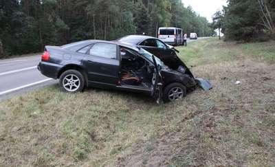 Wypadek Mława – Turza Mała, 2 osoby przewiezione do szpitala