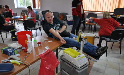 Akcja krwiodawstwa u strażaków