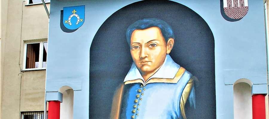 """Odsłonili mural Św. St. Kostki. Będzie """"patrzył"""" na mieszkańców"""