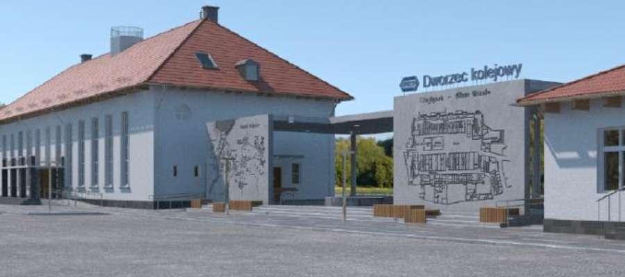 Tak w przyszłości będzie wyglądał dworzec w Olsztynku