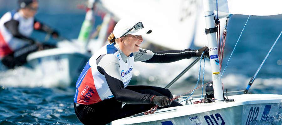 Agata Barwińska podczas mistrzostw świata w Aarhus, aktualnie iławianka walczy w zawodach Pucharu Świata w Japonii