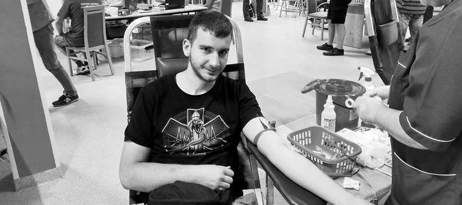 Maciej Ciunowicz był nie tylko strażakiem, ale też m.in. krwiodawcą.