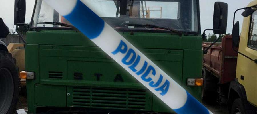 Łupem złodzieja padła m.in. ta ciężarówka