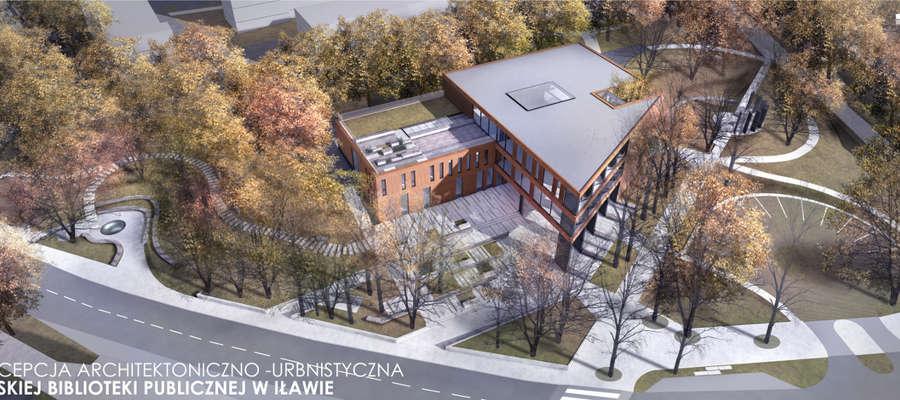 Tak z lotu ptaka prezentuje się koncepcja zagospodarowania Domu Weterana w Iławie, gdzie ma powstać Centrum Nowe Horyzonty