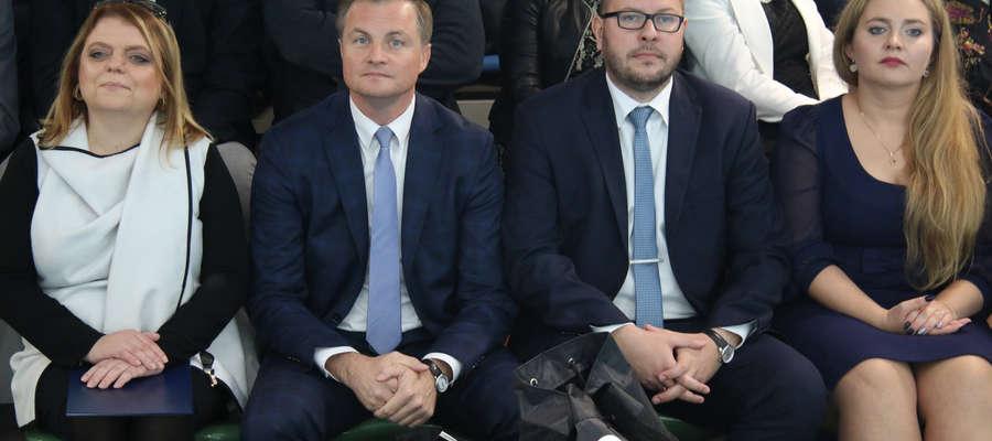 Starosta Małgorzata Chyziak, Marcin Kuchciński i burmistrz Kamil Kozłowski