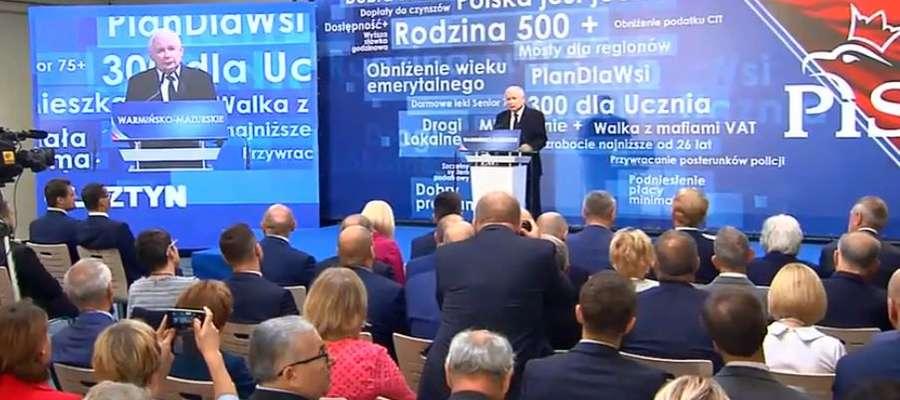 Wojewódzka konwencja PiS z udziałem premiera Mateusza Morawieckiego i prezesa Jarosława Kaczyńskiego [LIVE]