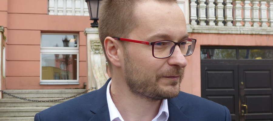 Dawid Kopaczewski jest czwartym kandydatem na burmistrza Iławy