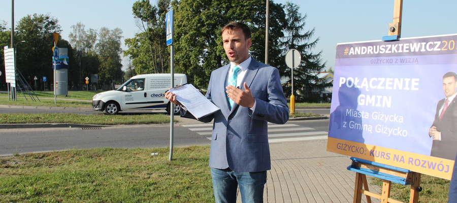 Piotr Andruszkiewicz, kandydat na burmistrza Giżycka