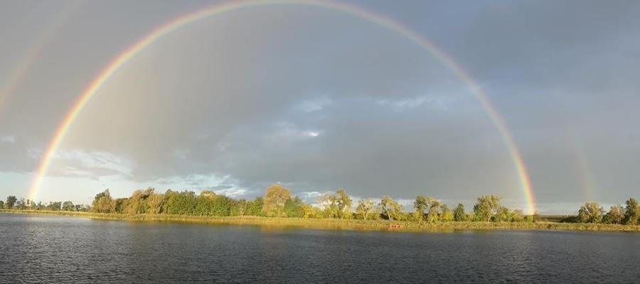 Tęcza nad jeziorem Wielochowskim