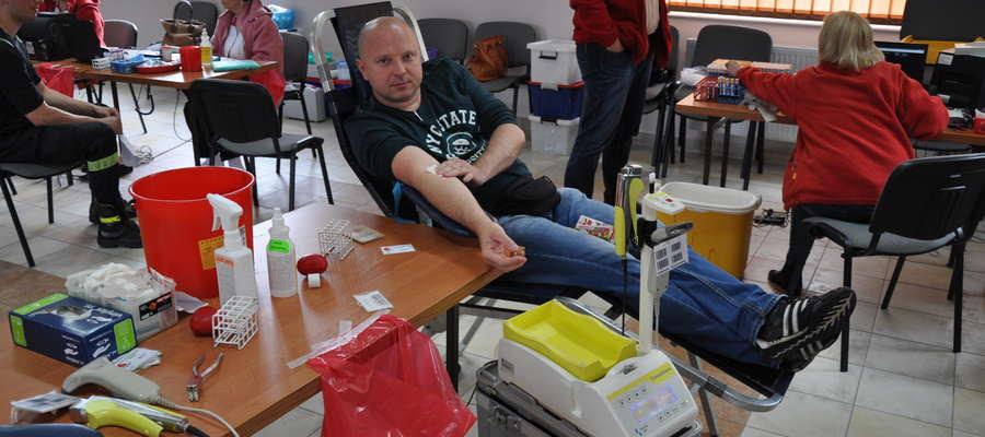 Akcja krwiodawstwa u lidzbarskich strażaków