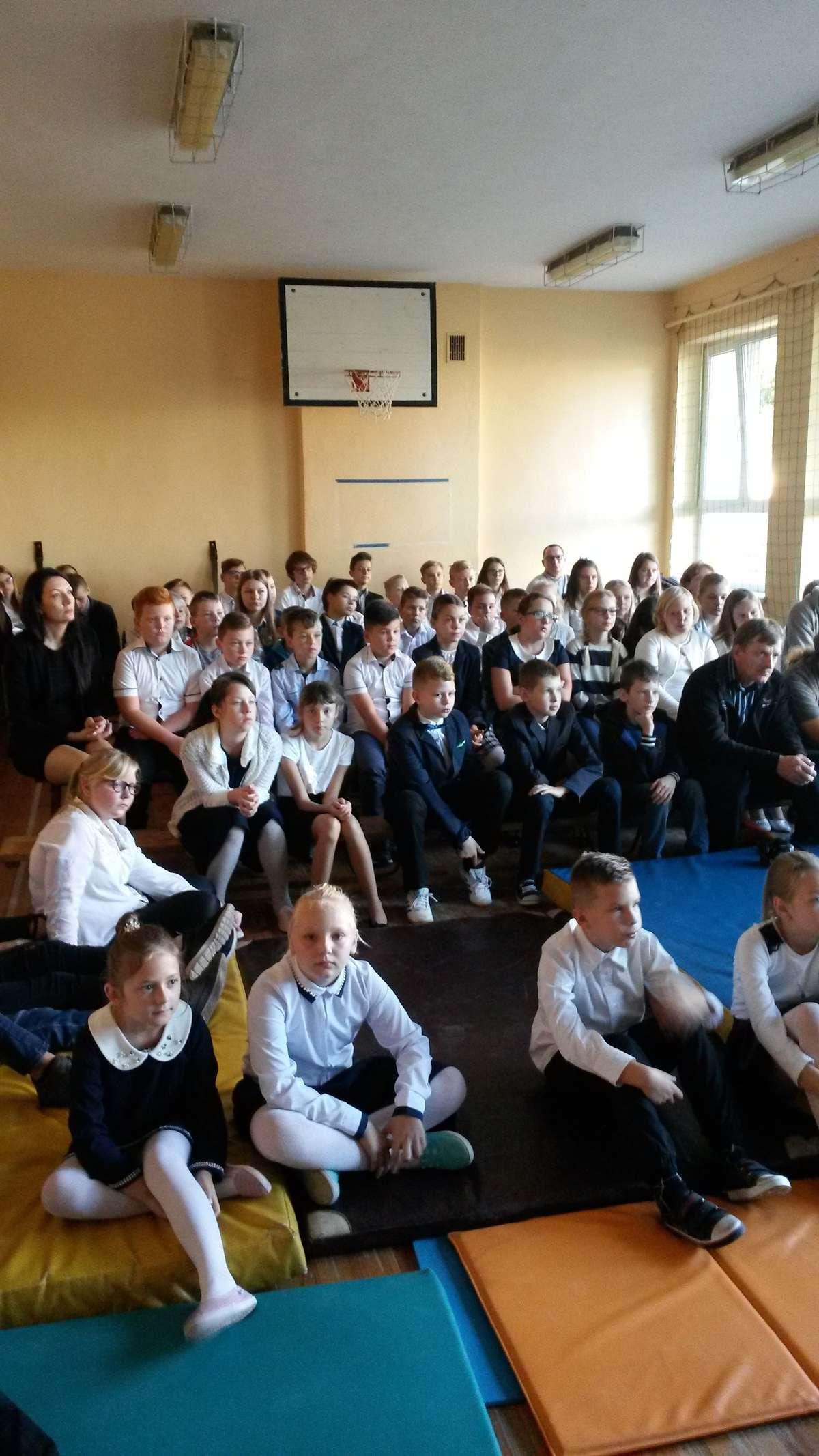 W czasie spotkania w szkole w Zajączkowie