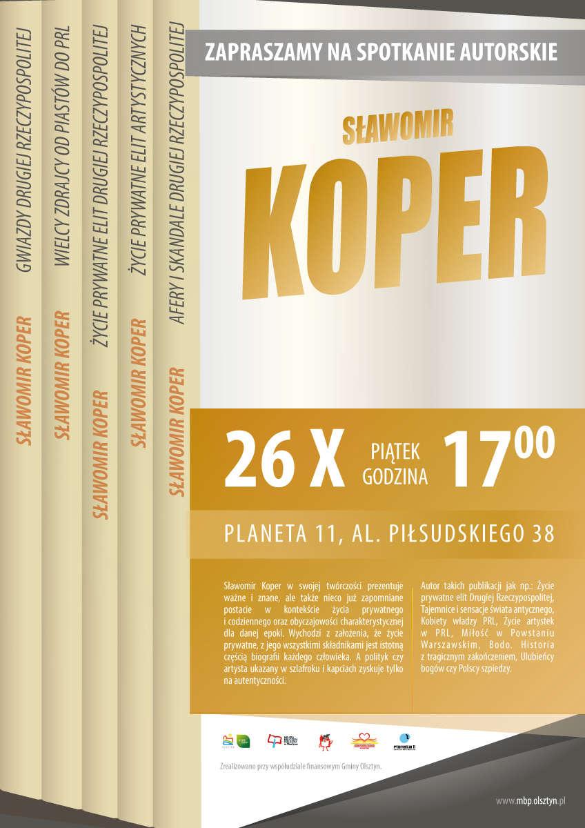 Sławomir Koper spotka się w Olsztynie z czytelnikami - full image