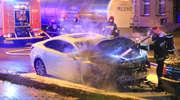 W Olsztynie spłonął samochód [ZDJĘCIA]