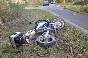Motocyklistę zabrał śmigłowiec LPR