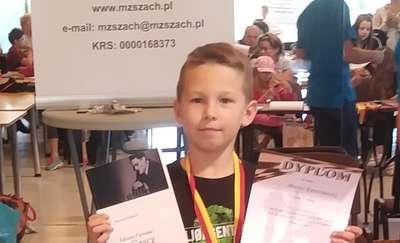 Maciej Kraśniewski złotym medalistą Makroregionu w Szachach