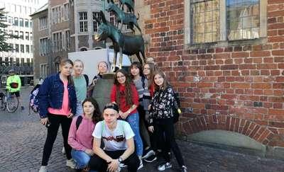 Rewizyta w szkole w Wardenburgu uczniów szkół w Biskupcu i Bielicach