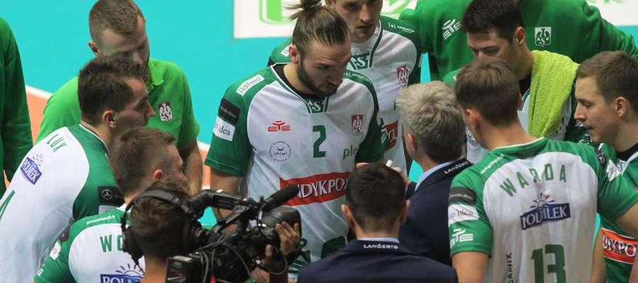 Olsztynianie rozegrali w Bełchatowie dobry mecz, a klasą dla siebie był zwłaszcza Jan Hadrava (nr 2)