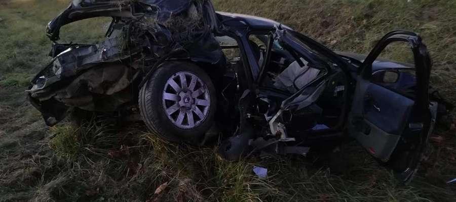 Wypadek na trasie Kętrzyn - Bartoszyce. Roczne dziecko przetransportowane helikopterem do szpitala