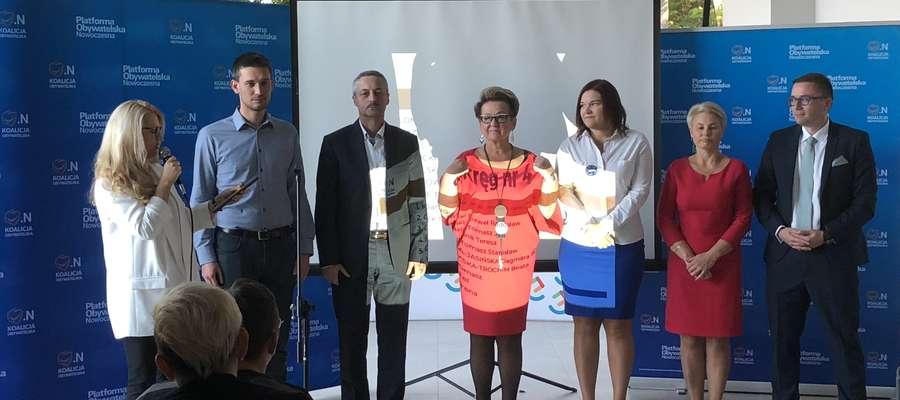 Prezentacja kandydatów Koalicji Obywatelskiej do Rady Miasta Olsztyna