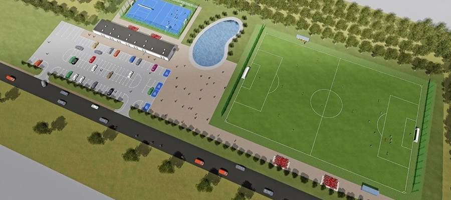 Wizualizacja kompleksu boisk w Lubowidzu