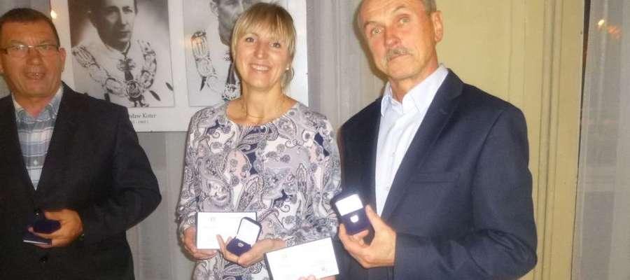 Dyrektor Andrzej Kamiński ( z prawej) na gali w Olsztynie