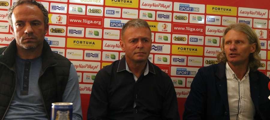 Nowy sztab szkoleniowy Stomilu (od lewej): Sylwester Czereszewski, Adam Zejer i Piotr Zajączkowski