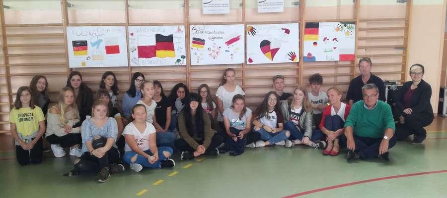 Podczas wspólnych zajęć młodzieży z Biskupca i z Niemiec