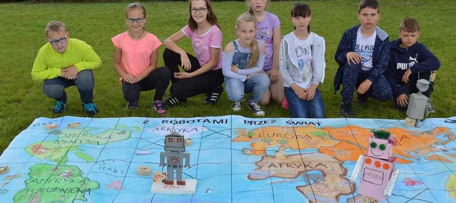 Uczniowie z Brzozia Lubawskiego zadowoleni ze swojej gry