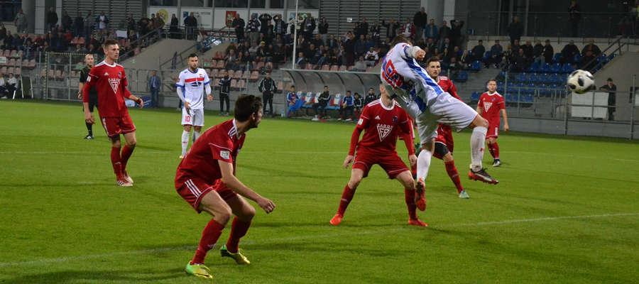 W 42. min Łukasz Siedlik zdobył gola na 2:0 w meczu z Bronią Radom