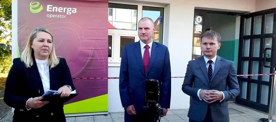 Mariusz Wdowczyk (pierwszy), prezes elbląskiego oddziału Energi Operator: — Widzimy w Elblągu i okolicach olbrzymi potencjał, zwłaszcza w kontekście przekopu Mierzei Wiślanej