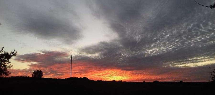 Zachód słońca w okolicach Wozławek