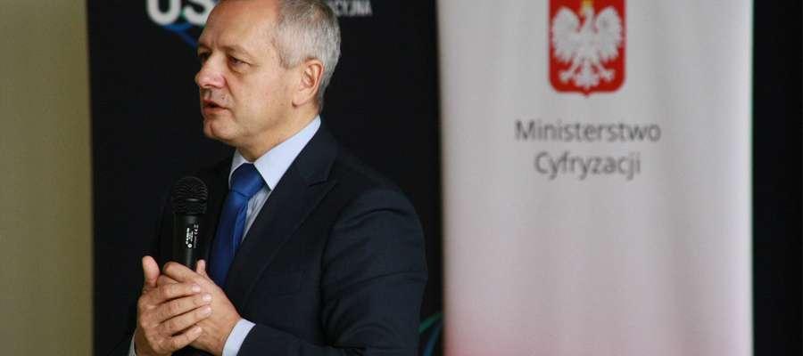 Minister Cyfryzacji Marek Zagórski w Stradunach
