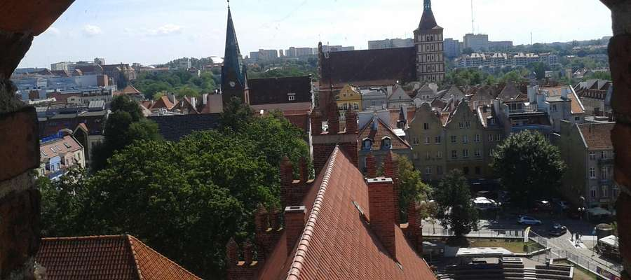 Olsztyn — widok z zamkowej wieży