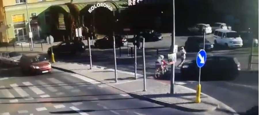 Kolejne potrącenie w Olsztynie. 12-letnia rowerzystka pod kołami auta [VIDEO]