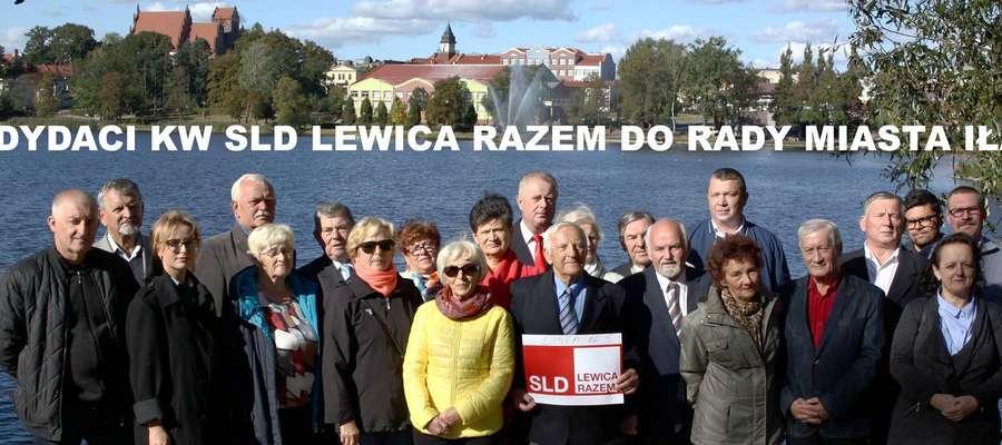 Wspólne zdjęcie wszystkich kandydatów do Rady Miasta Iława (Sojusz Lewicy Demokratycznej)