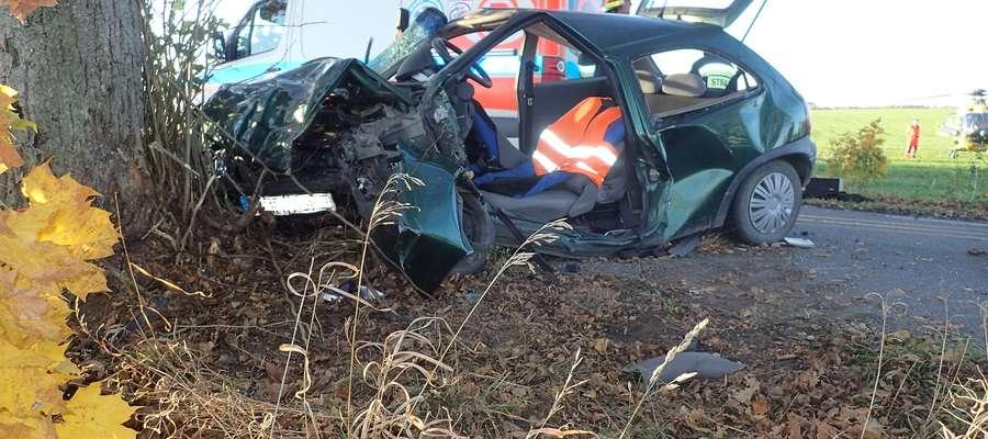 Wypadek w Wapniku