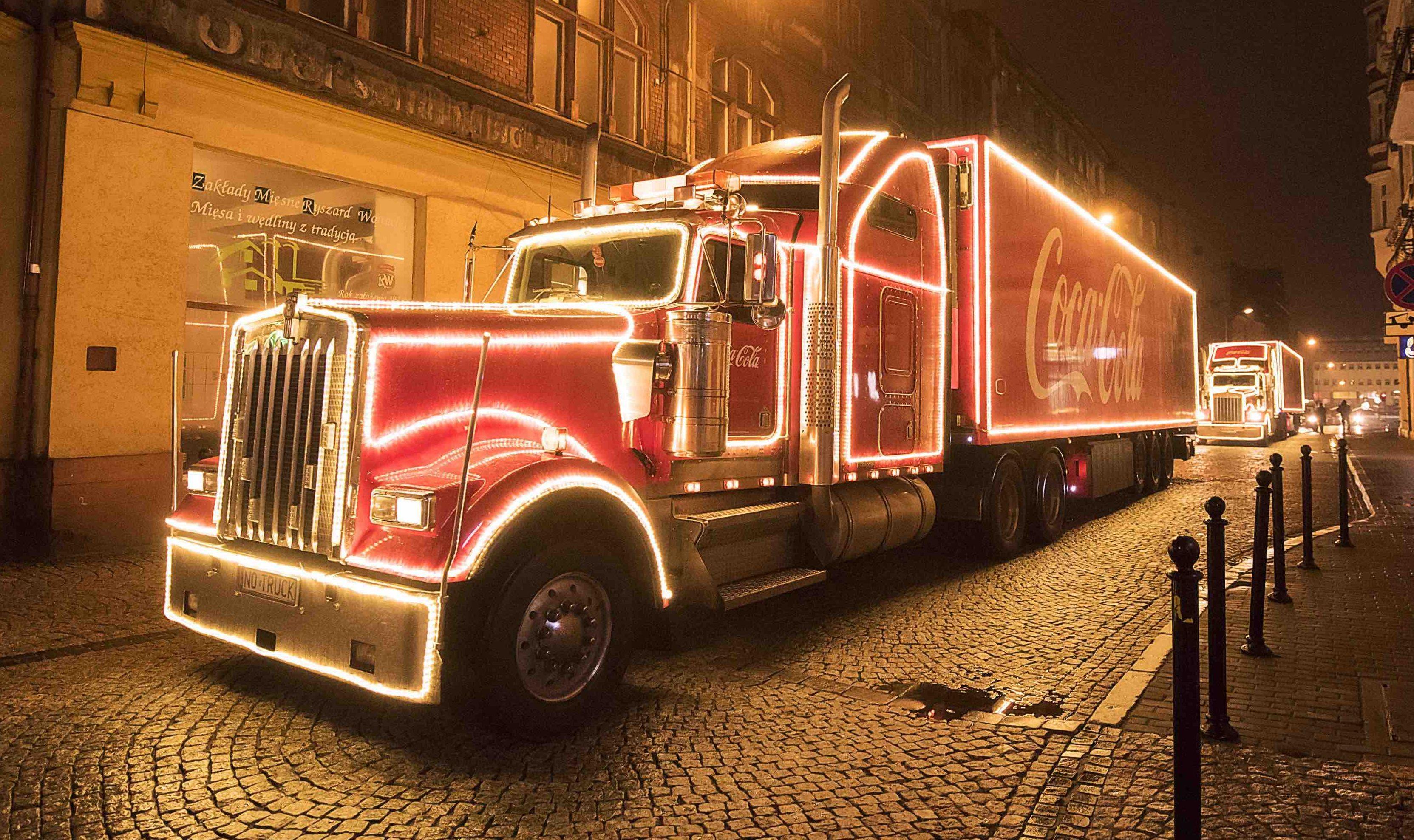 Świąteczny konwój Coca-Coli w Olsztynie