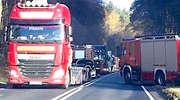 Wypadek na granicy powiatów. DK 15 zablokowana