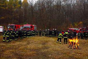 Strażackie ćwiczenia na wypadek pożaru lasu
